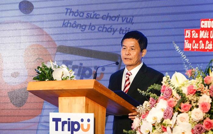 Ông Nguyễn Quốc Kỳ - TGĐ Vietravel phát biểu tại Lễ ra mắt siêu ứng dụng Du lịch TripU