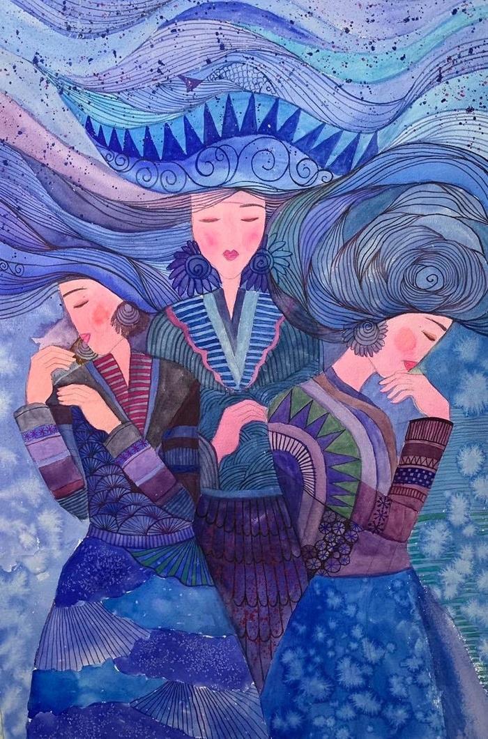 """Chiêm ngưỡng Sa Pa tuyệt đẹp trong """"Mơ"""" của hai họa sĩ trẻ - Ảnh 9."""