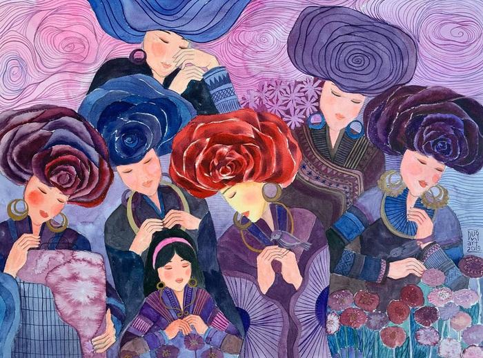"""Chiêm ngưỡng Sa Pa tuyệt đẹp trong """"Mơ"""" của hai họa sĩ trẻ - Ảnh 6."""