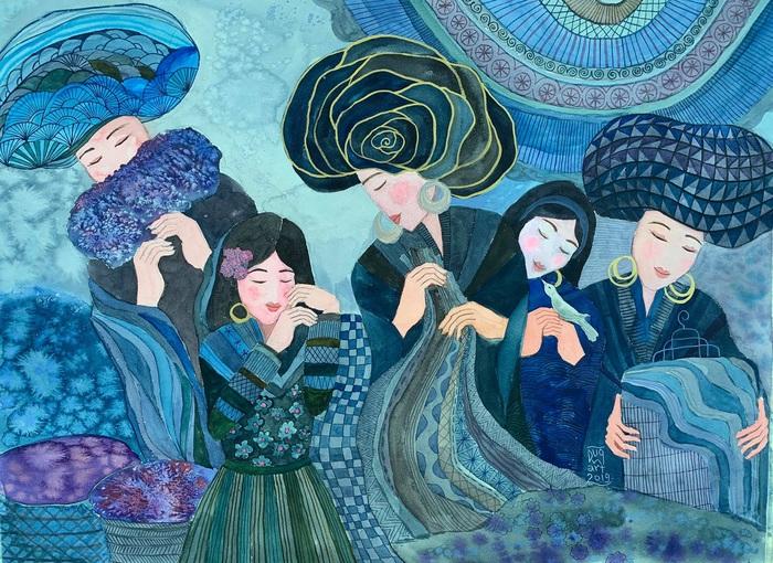 """Chiêm ngưỡng Sa Pa tuyệt đẹp trong """"Mơ"""" của hai họa sĩ trẻ - Ảnh 5."""