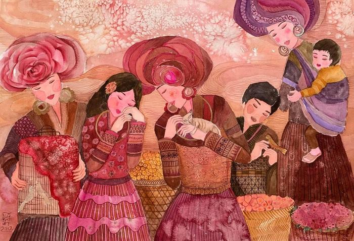 """Chiêm ngưỡng Sa Pa tuyệt đẹp trong """"Mơ"""" của hai họa sĩ trẻ - Ảnh 4."""