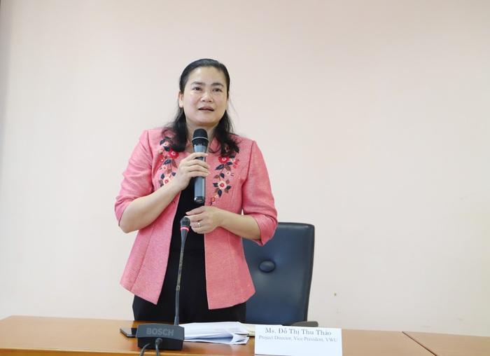 Phó chủ tịch Hội LHPN Việt Nam Đỗ Thị Thu Thảo phát biểu