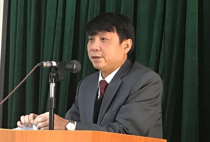 Phó Giám đốc Học viện Chính trị Quốc gia HCM Nguyễn Ngọc Hà phát biểu khai mạc Hội nghị