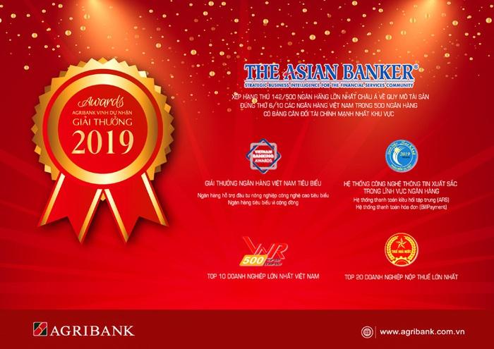 Năm 2019 - Agribank đạt nhiều giải thưởng uy tín - Ảnh 2.