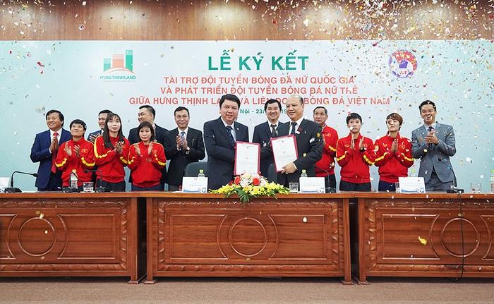 Hưng Thịnh Land tài trợ 100 tỷ đồng phát triển bóng đá nữ Việt Nam hướng đến World Cup - Ảnh 1.
