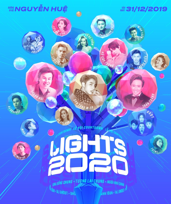 Lễ hội ánh sáng Countdown Lights 2020 hứa hẹn mang đến bữa tiệc âm nhạc - văn hóa - nghệ thuật đỉnh cao phục vụ người dân Thành phố ngay ngày đầu của năm mới 2020