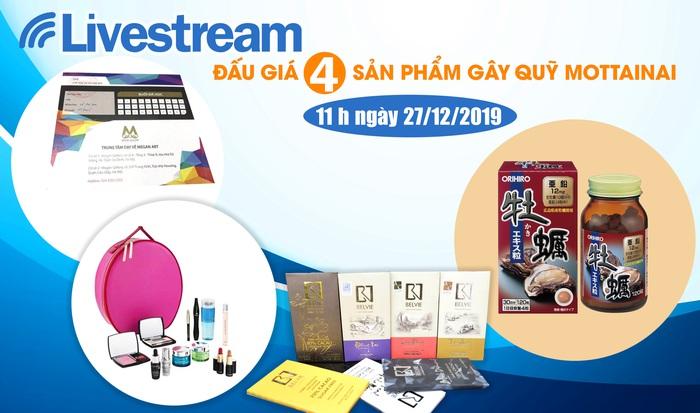 11h 00 ngày 27/12: Livestream đấu giá 4 sản phẩm hấp dẫn gây quỹ Mottainai - Ảnh 1.
