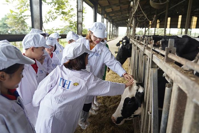 1 ngày trải nghiệm vui vẻ của các em nhỏ tại Trang trại bò sữa Organic TH  - Ảnh 3.