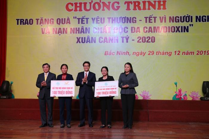 """Phó Thủ tướng Vũ Đức Đam dự, trao quà """"Tết vì người nghèo và nạn nhân chất độc da cam"""" Xuân Canh Tý - 2020 tại Bắc Ninh - Ảnh 6."""