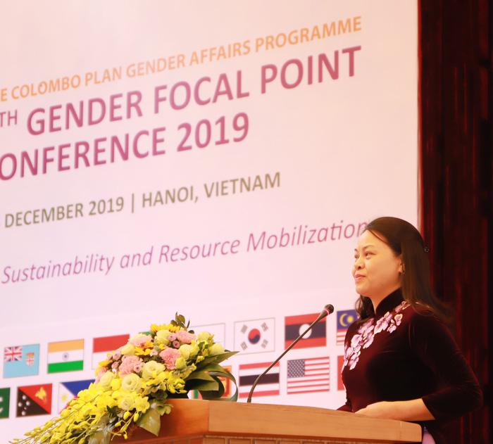 Chủ tịch Hội LHPN Việt Nam Nguyễn Thị Thu Hà phát biểu