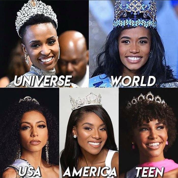 Sắc đẹp da màu làm chủ các cuộc thi hoa hậu