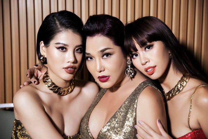 Cindy Thái Tài, Hà Anh, Hồng Nguyễn tái hiện hình ảnh siêu sao thập niên cũ - Ảnh 1.