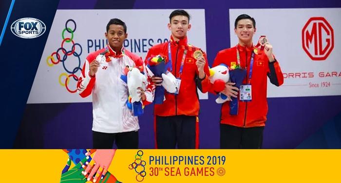 SEA Games 30: Kình ngư Nguyễn Huy Hoàng giành Huy chương Vàng thứ 2 - Ảnh 1.