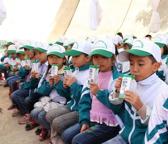 Hiện nay, Hà Nam có 130.000 trẻ em mầm non và tiểu học thụ hưởng chương trình Sữa học đường