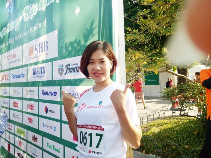 Chị Chữ Thu Quỳnh (SBD 0617) giành giải Nhất 3 vòng chạy
