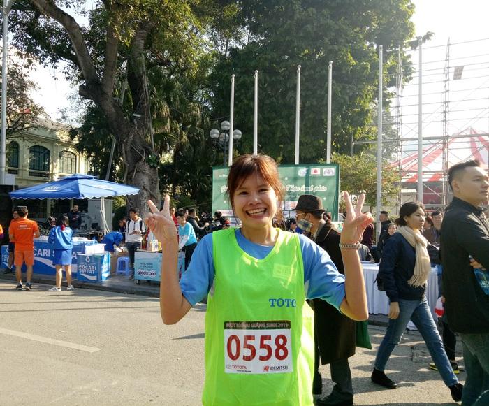 Chị Trần Thị Thu Hiền (SBD 0558) giành giải Nhất chạy 1 vòng