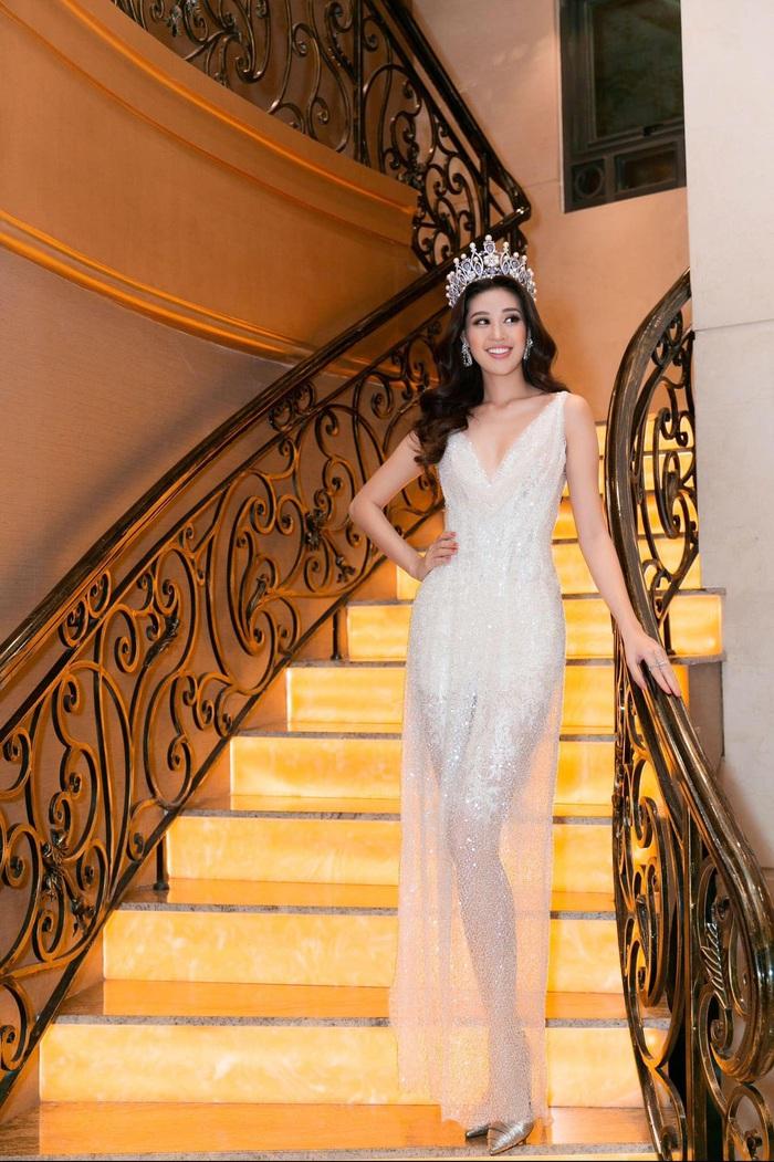 Hoa hậu Hoàn Vũ Khánh Vân khoe dáng khi diện đầm đính 2 kg cườm - Ảnh 5.