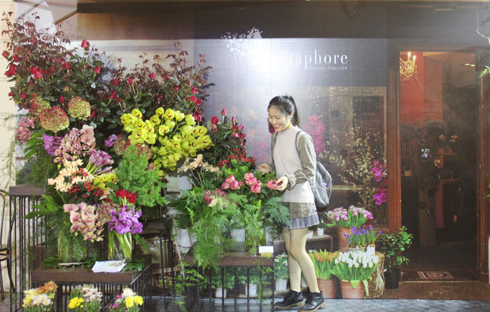 Cửa hàng hoa đặc trưng kiểu Pháp