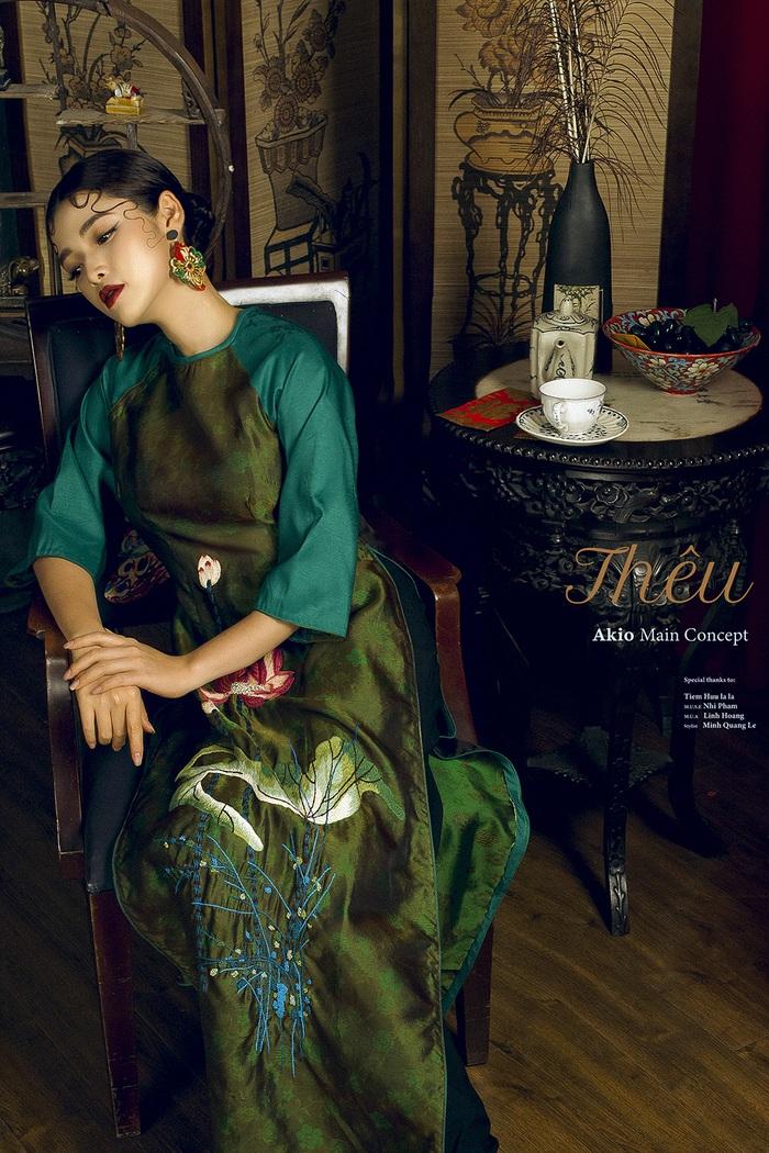 Top 10 Miss Photo Diễm Nhi chọn áo dài cách tân đón xuân mới - Ảnh 8.