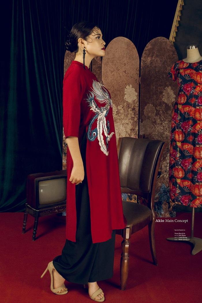 Top 10 Miss Photo Diễm Nhi chọn áo dài cách tân đón xuân mới - Ảnh 4.