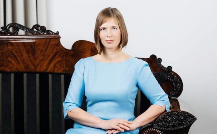 Tổng thống Estonia Kersti Kaljulaid