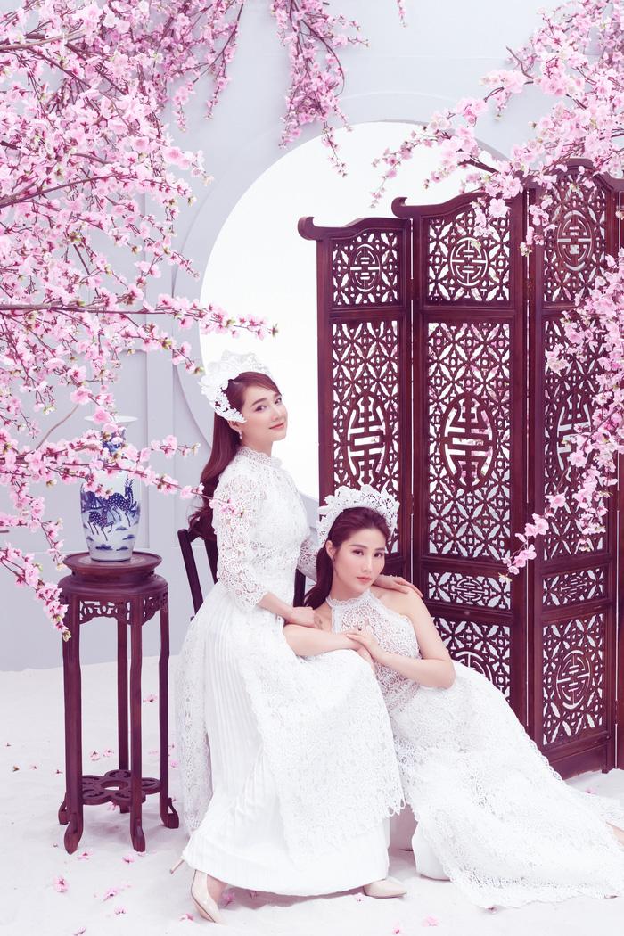 Nhã Phương – Diễm My 9x diện áo dài đón Tết Canh Tý - Ảnh 3.