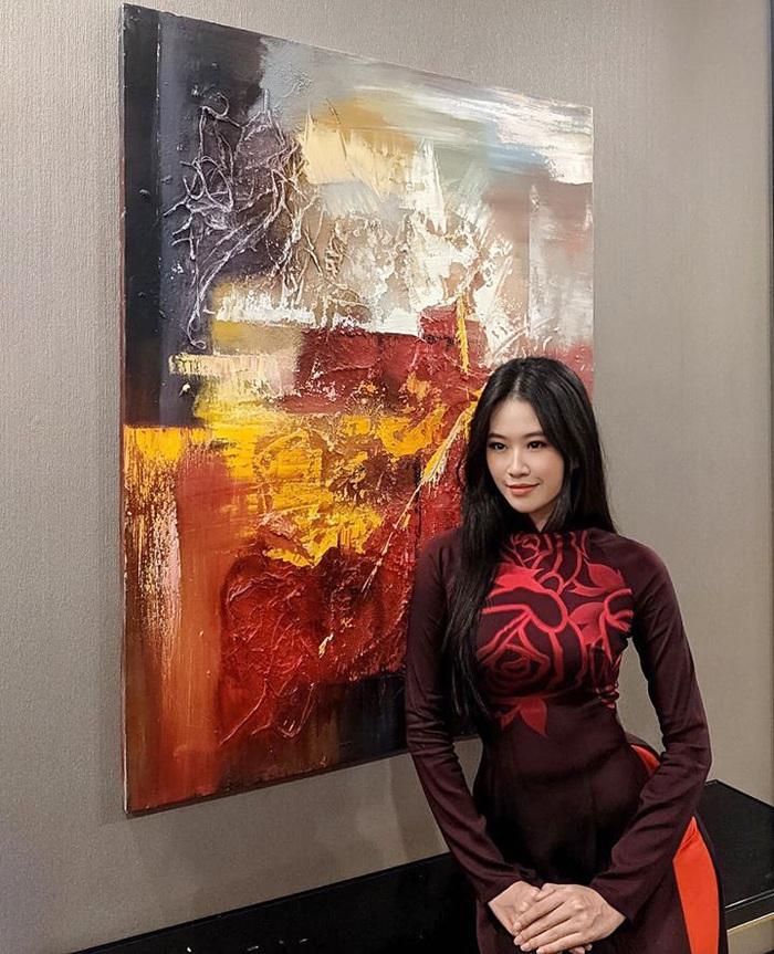 Dàn mỹ nhân Miss Photo diện áo dài đỏ rực đón Tết Canh Tý - Ảnh 5.