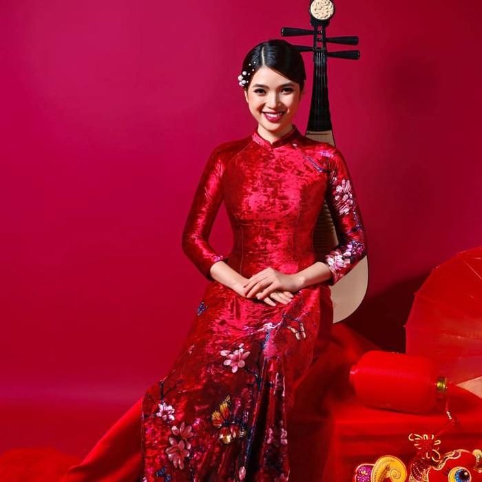 Dàn mỹ nhân Miss Photo diện áo dài đỏ rực đón Tết Canh Tý - Ảnh 6.