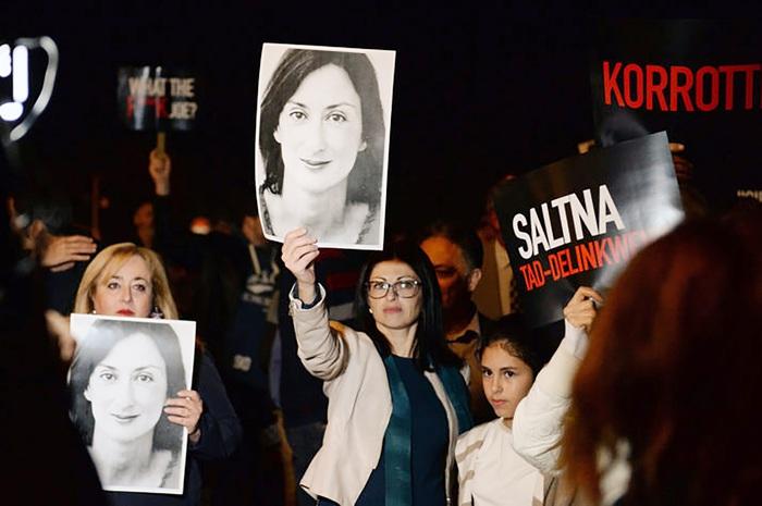 Malta rối loạn sau vụ nữ nhà báo chống tiêu cực bị sát hại - Ảnh 2.