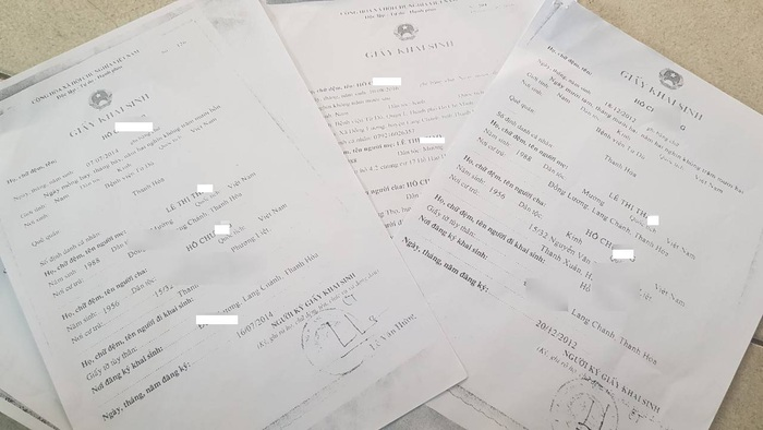Giấy khai sinh các con của chị Th. đều ghi rõ bố là ông Hồ Ch., chính ông Hồ Ch. là người trực tiếp đi làm giấy khai sinh cho các con tại UBND xã Đồng Lương (Lang Chánh, Thanh Hóa)