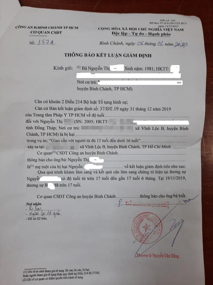 Vụ bé gái 14 tuổi bị thợ sơn đưa vào khách sạn: Viện KSND huyện chuyển đơn tới Công an để điều tra - Ảnh 2.