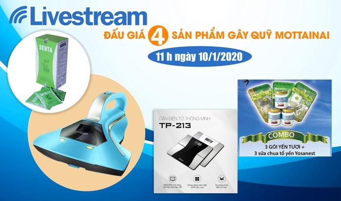 11h00 ngày 10/1: Livestream đấu giá 4 sản phẩm hấp dẫn gây quỹ Mottainai - Ảnh 1.