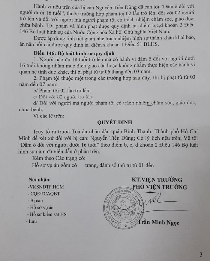 Truy tố cán bộ Trung tâm Hỗ trợ xã hội TPHCM tội dâm ô  - Ảnh 2.