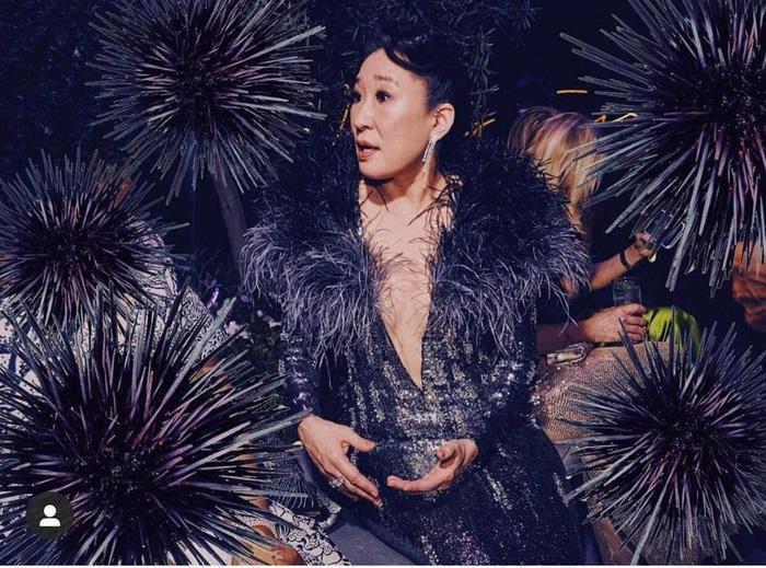 Minh tinh Hollywood Sandra Oh xuất hiện với váy của NTK Công Trí trên thảm đỏ - Ảnh 6.