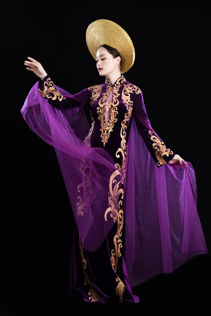 Hết Tết, Lan Phương vẫn chuộng diện áo dài khoe dáng - Ảnh 2.