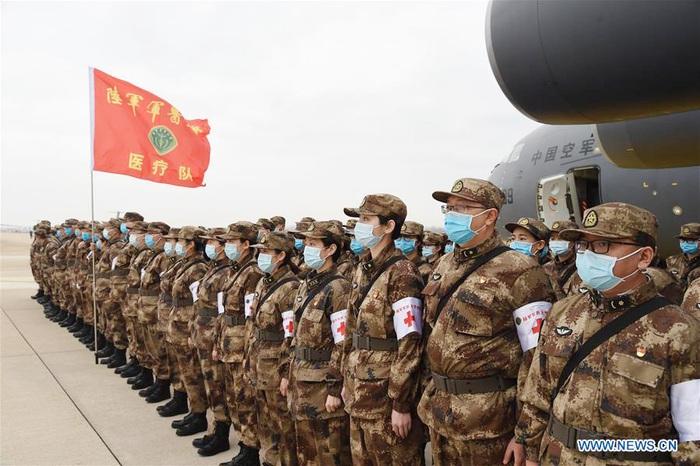 Lực lượng quân y được điều động đến Vũ Hán