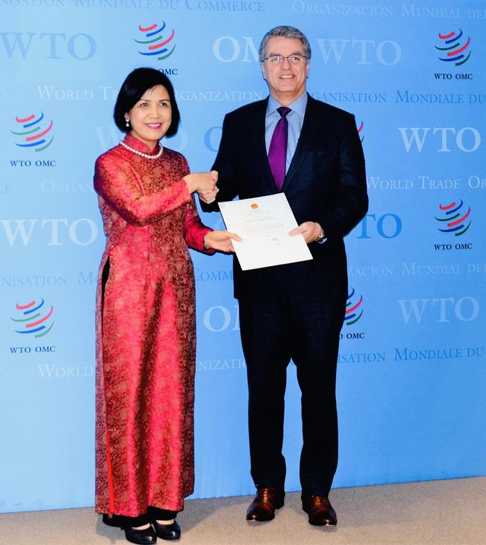 Đại sứ Lê Thị Tuyết Mai trình Quốc thư đến Tổng Giám đốc WTO