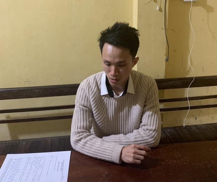 Nghi phạm Lê Thành Hưng tại cơ quan điều tra.