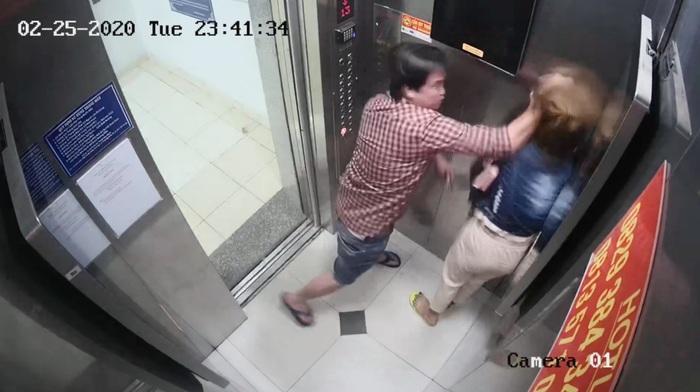 Đề nghị xử lý nghiêm đối tượng đánh đập phụ nữ trong thang máy chung cư - Ảnh 1.