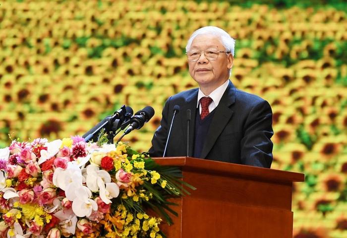Tổng Bí thư Nguyễn Phú Trọng: 'Sự lãnh đạo của Đảng là nhân tố hàng đầu quyết định mọi thắng lợi' - Ảnh 1.