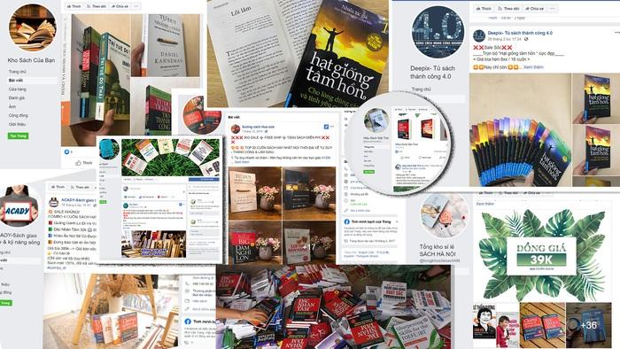 33 trang bán sách giả trên mạng được First News và Alpha Books công bố
