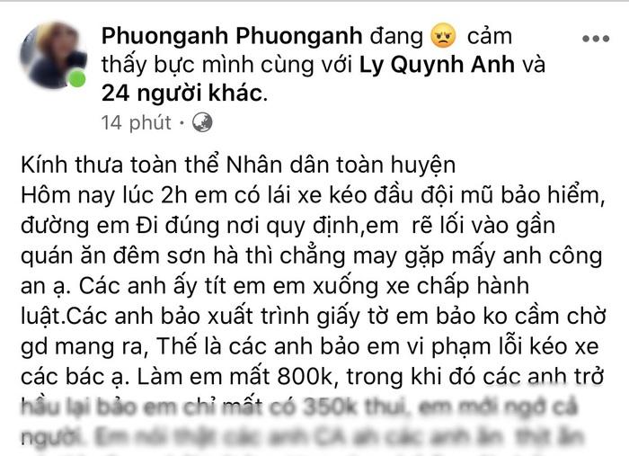 Triệu tập cô gái xúc phạm CSGT trên mạng xã hội sau khi bị xử phạt - Ảnh 2.
