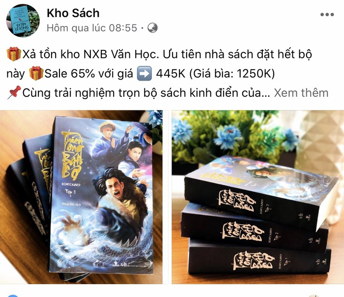 Bộ Thiên Long bát bộ được một fanpage rao bán giá 445 nghìn đồng