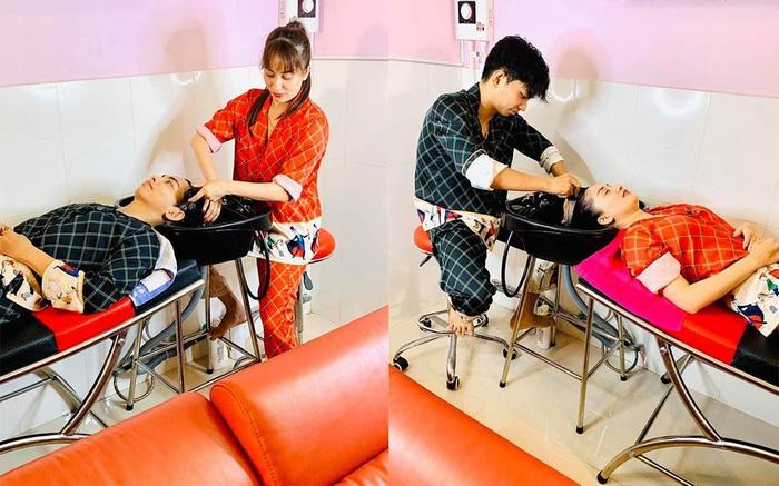 Ở nhà mùa dịch: Ông xã Khánh Thi tập thể dục cùng vợ, chồng Lan Khuê hít đất độc chiêu - Ảnh 4.