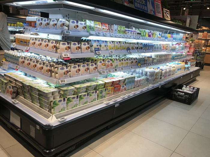Nhiều loại sản phẩm của Vinamilk đang được bán trong các siêu thị lớn tại Trung Quốc