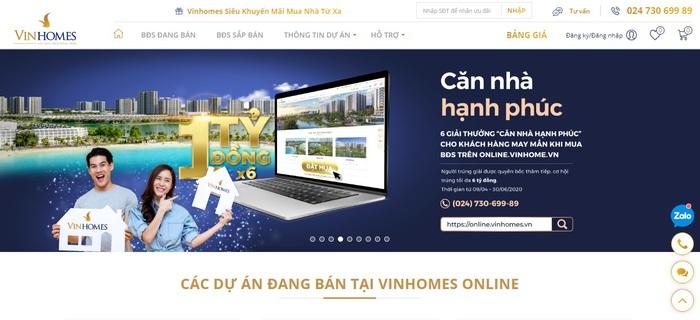 """""""Ngồi nhà - Mua nhà"""" Vingroup """"khơi mào"""" cuộc đua giao dịch bất động sản trực tuyến - Ảnh 1."""
