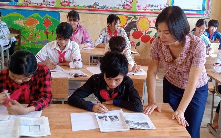Cô Trương Thị Quỳnh trong giờ lên lớp