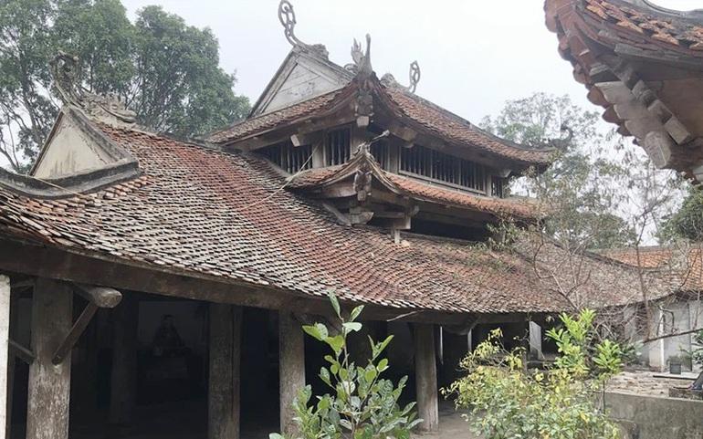 Vẻ cổ kính của hậu đường chùa Sổ