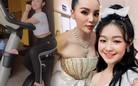 Bé gái Cần Thơ chuyên đọ sắc Hoa hậu giờ chăm tập gym để tút dáng
