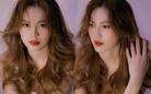 Chăm làm tóc xoăn bồng bềnh, Lan Ngọc xinh đẹp như nàng công chúa mới của Vbiz